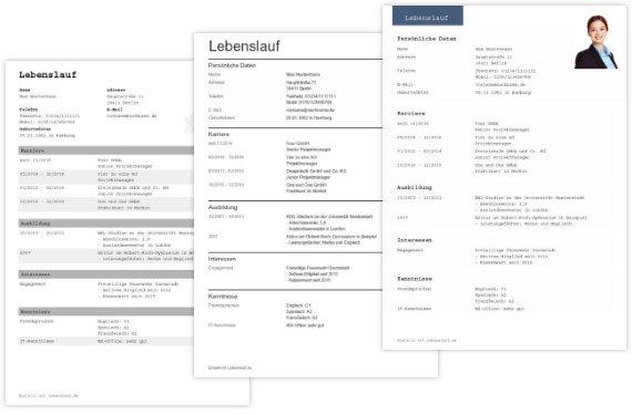 Lebenslauf  Infos, Tipps u0026 Vorlagen zur optimalen Gestaltung